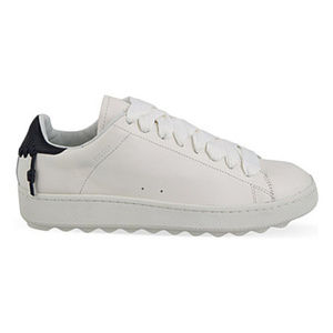 Coach C101 White/Midnight Navy Leather Sneakers
